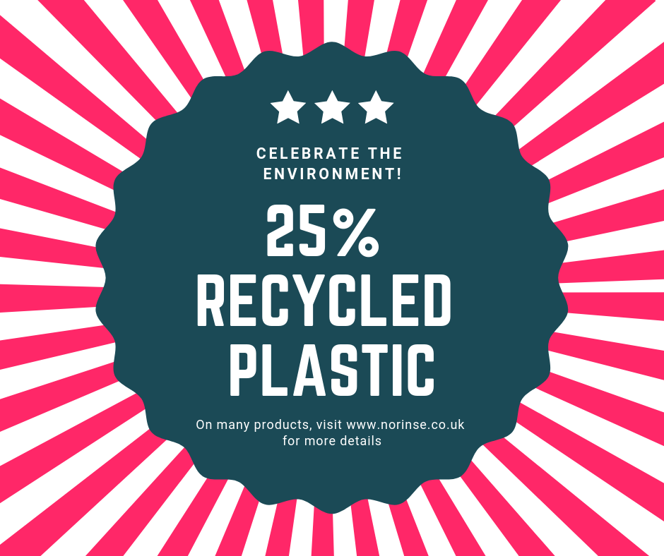 25% Recycled plastic