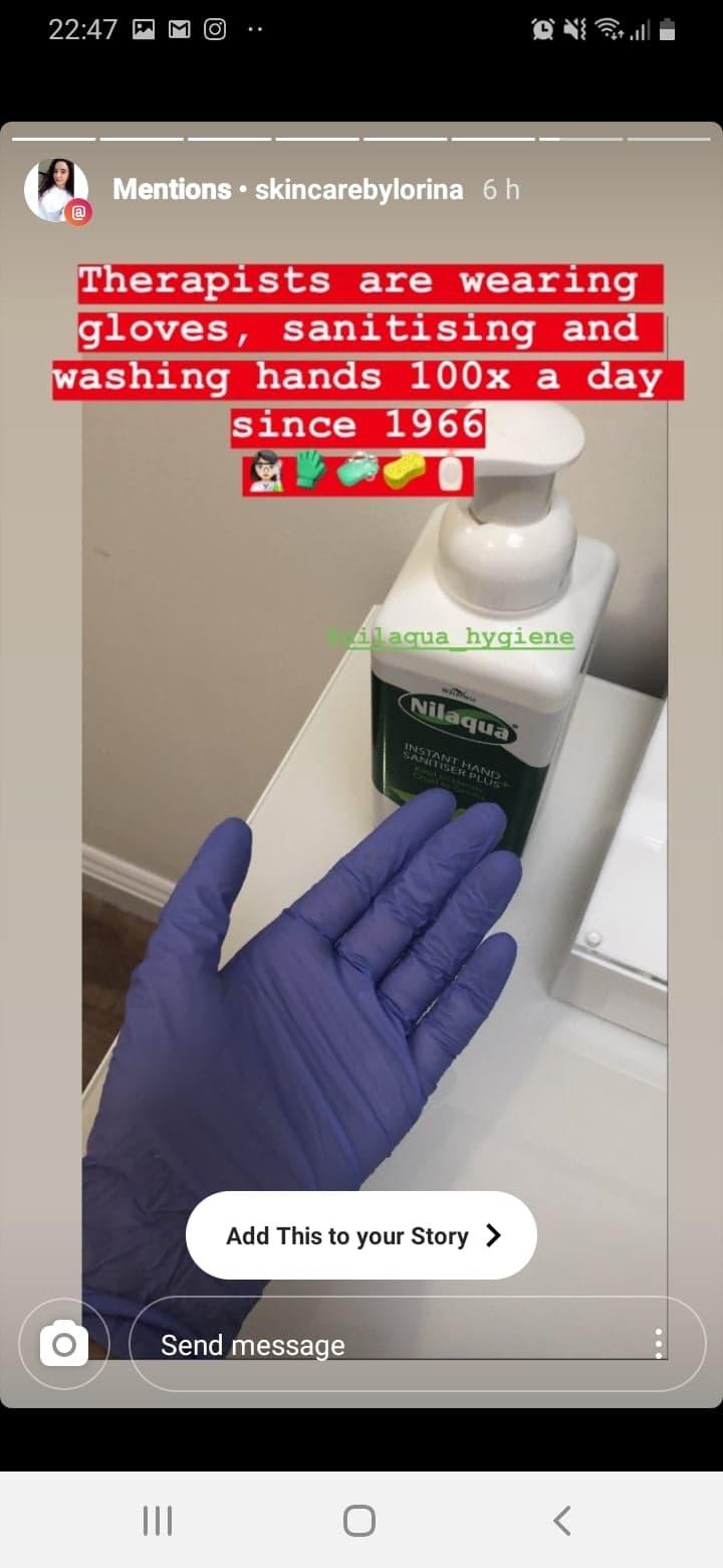 nilaqua alcohol free hand sanitiser