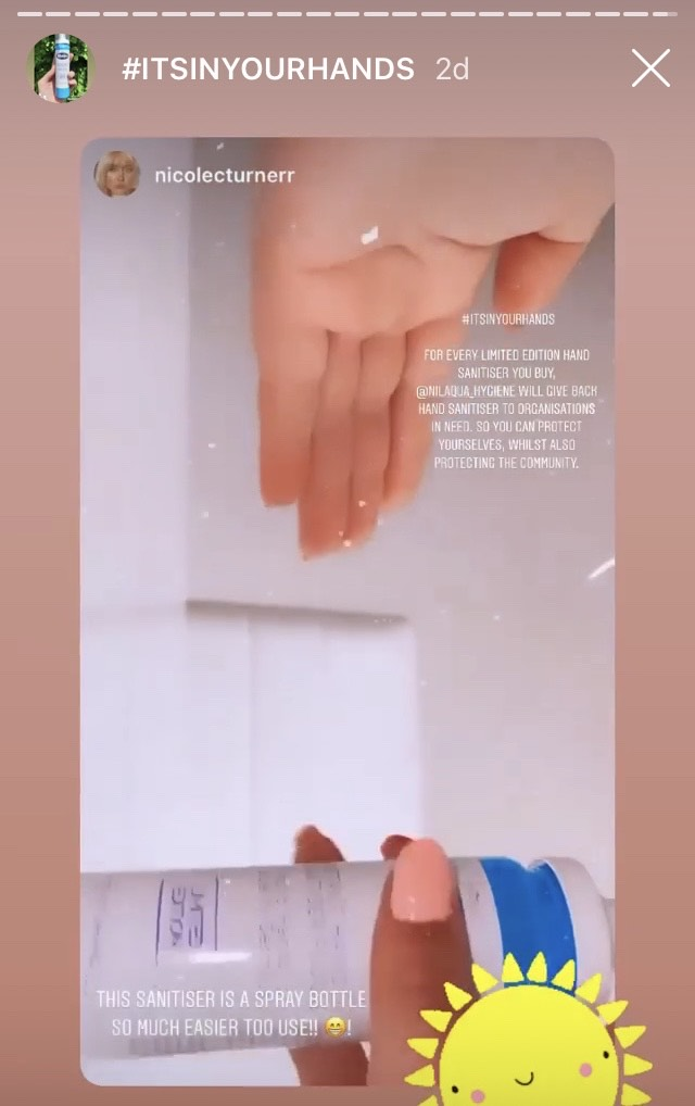 nilaqua alcohol-free hand sanitiser hinch