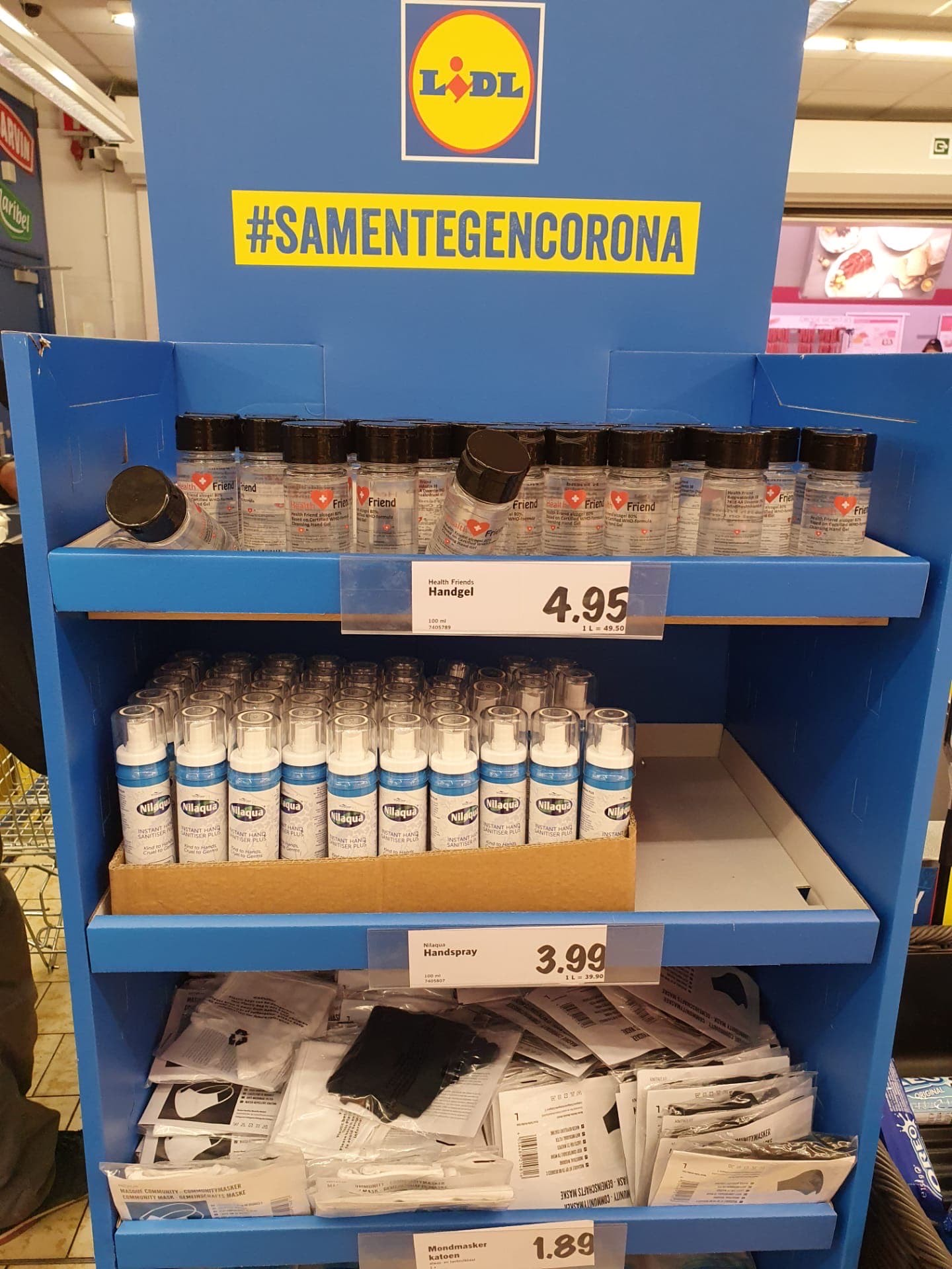 Alcohol-Free hand sanitiser limited edition in Lidl Belgium