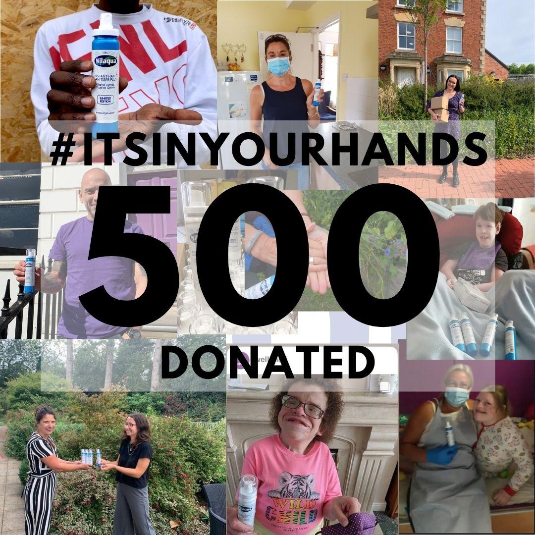 500 donated